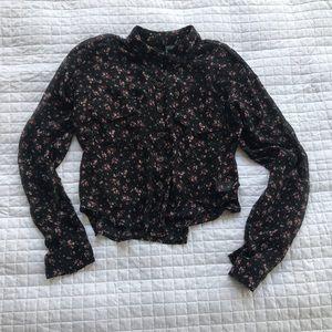 Button-down Floral top, size S
